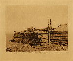 volume 6 facing: page  28 A grave-house - Piegan - photogravure plate