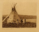 volume 6 facing: page  60 Camp by a prairie lake - Piegan - photogravure plate