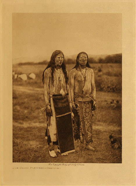volume 6  facing: page  88 Sun dance pledgers - Cheyenne
