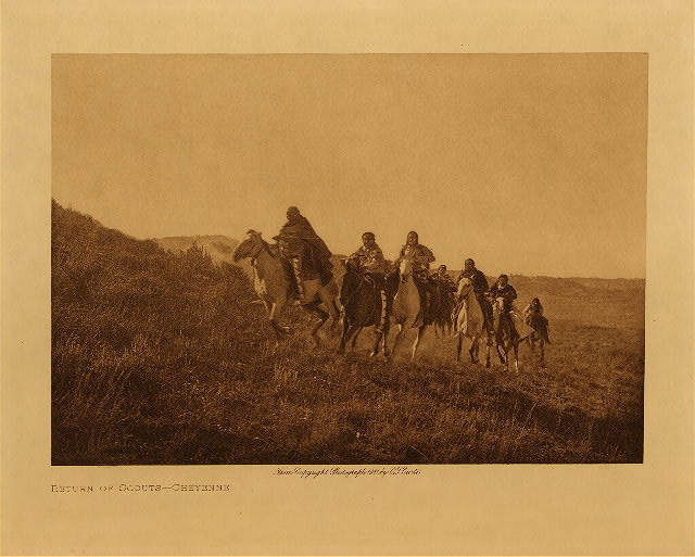 volume 6  facing: page  90 Return of scouts - Cheyenne