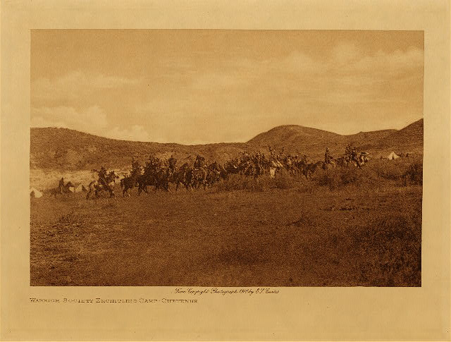 volume 6  facing: page  92 Warrior society encircling camp - Cheyenne