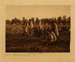 volume 6 facing: page  108 Priests passing before the pipe - Cheyenne - photogravure plate