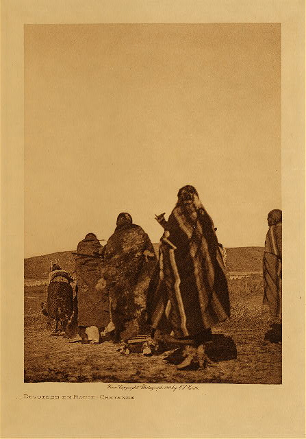 volume 6  facing: page  120 Devotees en route - Cheyenne