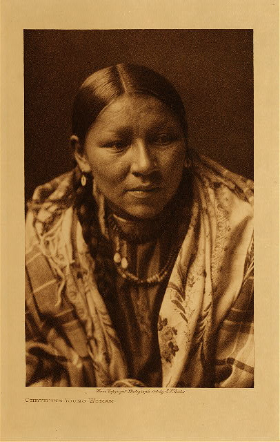 volume 6  facing: page  134 Cheyenne young woman