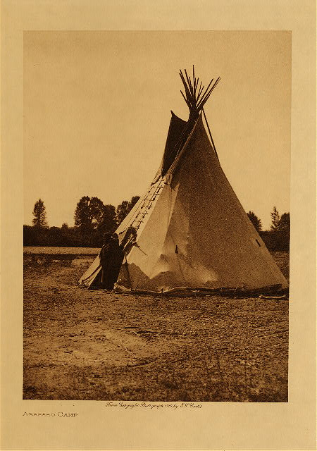 volume 6  facing: page  146 Arapaho camp