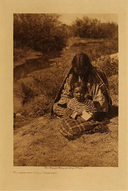volume 6  facing: page  158 Mother and child - Arapaho