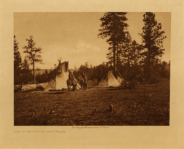 volume 7  facing: page  22 Camp of the root diggers - Yakima