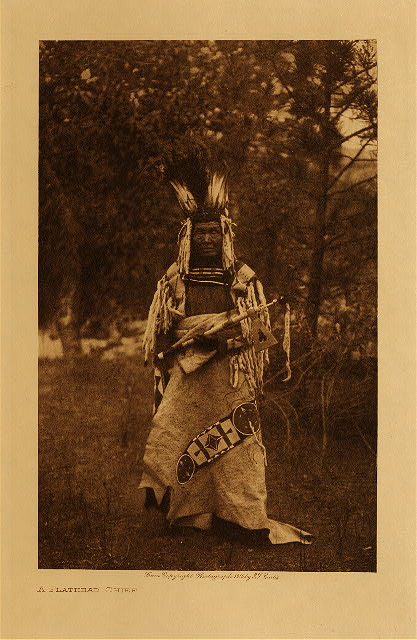 volume 7  facing: page  72 A Flathead chief