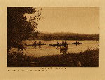 volume 7 facing: page  100 Crossing the Pend d'Oreille - Kalispel - photogravure plate