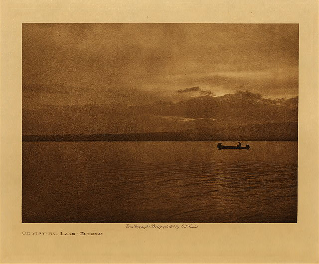 volume 7  facing: page  116 On Flathead Lake - Kutenai