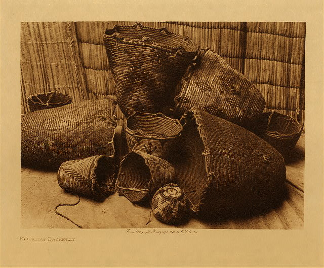 volume 7  facing: page  160 Klickitat basketry