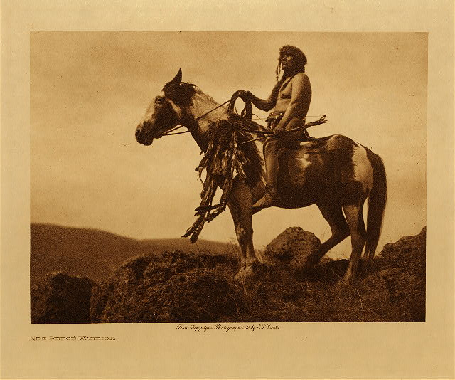 volume 8  facing: page  6 Nez Perce warrior