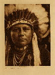 volume 8 facing: page  30 A young warrior - Nez Perce - photogravure plate