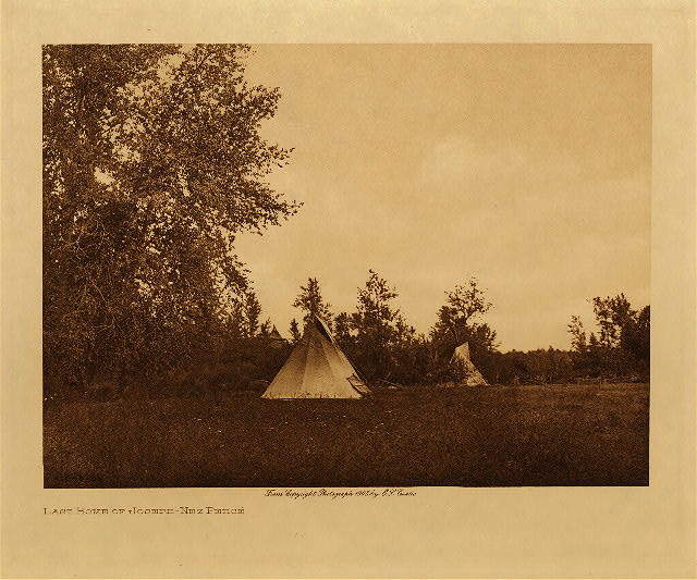 volume 8  facing: page  38 Last home of Joseph - Nez Perce