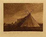 volume 8 facing: page  40 Joseph Dead Feast Lodge - Nez Perce - photogravure plate