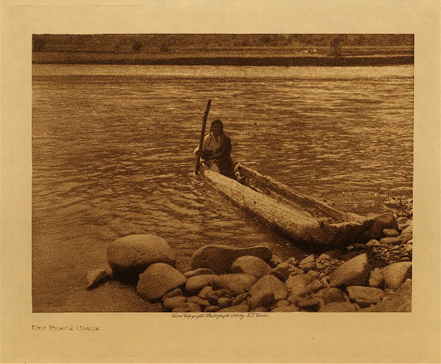 volume 8  facing: page  46 Nez Perce canoe