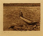 volume 8 facing: page  46 Nez Perce canoe - photogravure plate