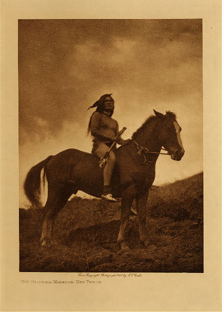 volume 8  facing: page  48 The old-time warrior - Nez Perce