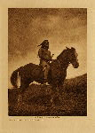 volume 8 facing: page  48 The old-time warrior - Nez Perce - photogravure plate