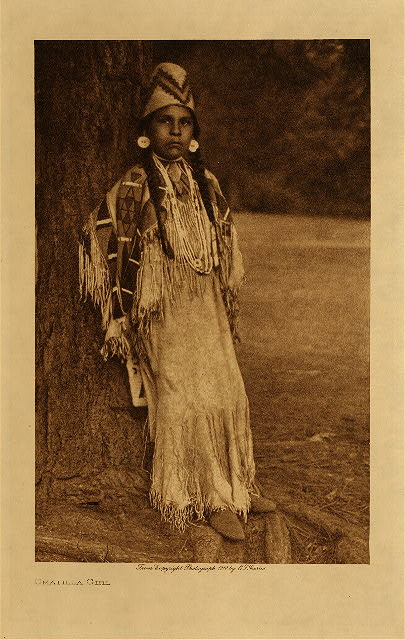 volume 8  facing: page  62 Umatilla girl