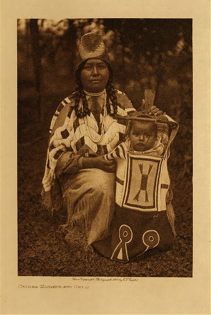 volume 8  facing: page  74 Cayuse mother and child