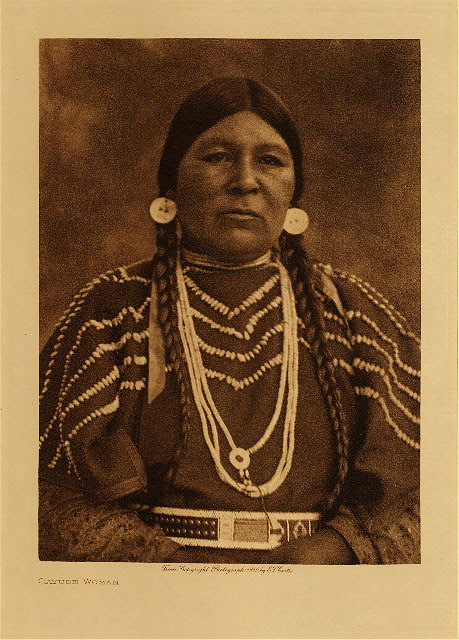 volume 8  facing: page  76 Cayuse woman
