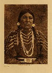 volume 8 facing: page  76 Cayuse woman - photogravure plate