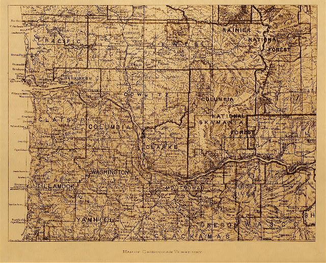 volume 8  facing: page  182 Map of Chinookan territory
