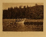 volume 9 facing: page  16 Quinault war canoe - photogravure plate