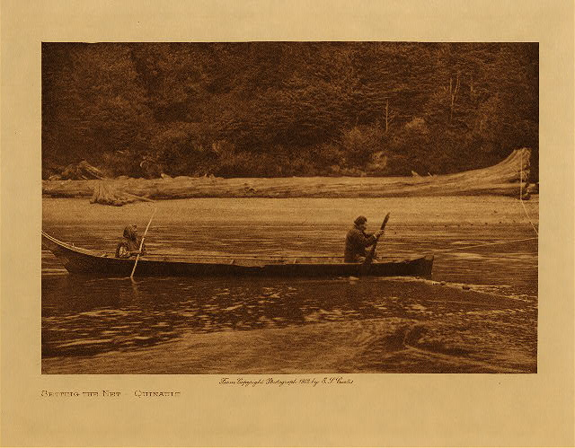 volume 9  facing: page  50 Setting the net - Quinault