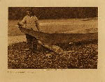 volume 9 facing: page  60 Canoe finishing - Quinault - photogravure plate