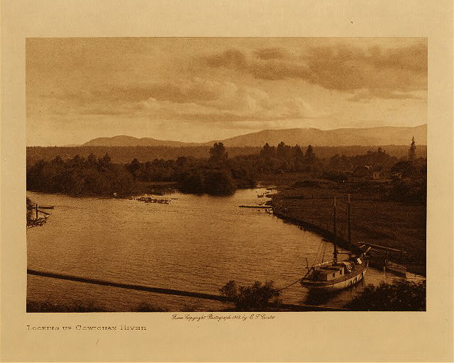 volume 9  facing: page  70 Looking up Cowichan River