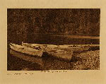 volume 9 facing: page  98 River canoes - Quinault - photogravure plate