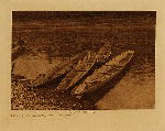 "volume 9 facing: page  102 River ""shovelnose"" canoes - Quinault - photogravure plate"