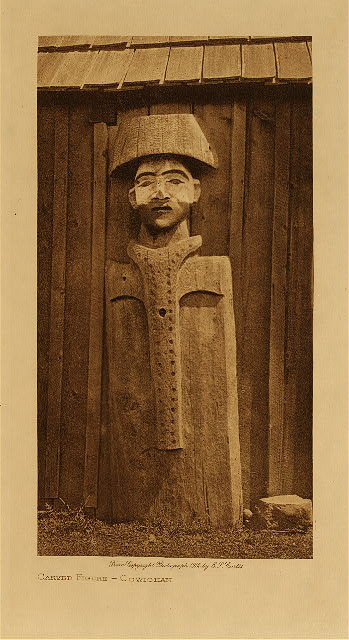volume 9  facing: page  108 Carved figure - Cowichan