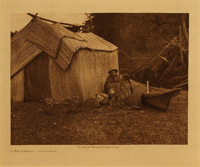 volume 9  facing: page  110 A mat shelter - Skokomish