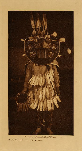 volume 9  facing: page  116 Masked dancer - Cowichan