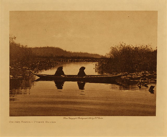 volume 9  facing: page  122 On the river - Puget Sound