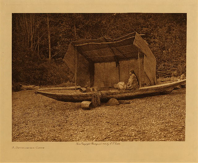 volume 9  facing: page  128 A Skokomish camp