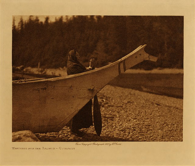 volume 9  facing: page  130 Watching for salmon - Quinault