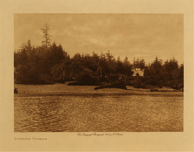 volume 9  facing: page  132 Quinault houses