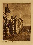 volume 10 facing: page  8 Nimkish village at Alert Bay - photogravure plate
