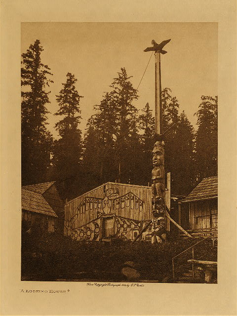 volume 10  facing: page  20 A Koskimo house