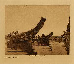 volume 10 facing: page  32 Tenaktak canoes - photogravure plate