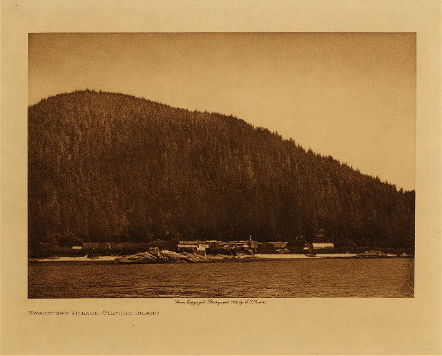 volume 10  facing: page  38 Kwaustums village, Gilford Island