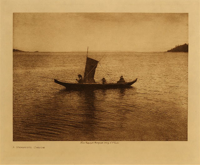 volume 10  facing: page  44 A Kwakiutl canoe