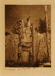 volume 10 facing: page  140 Tenaktak crest posts, Harbledown Island - photogravure plate