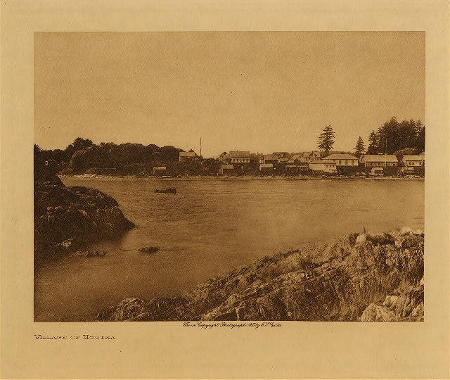 volume 11  facing: page  4 Village of Nootka
