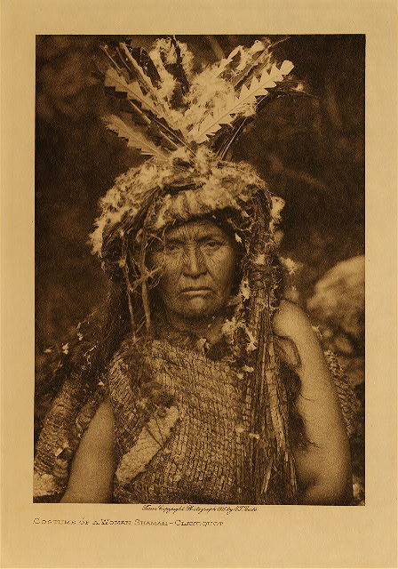 volume 11  facing: page  54 Costume of a woman shaman - Clayoquot