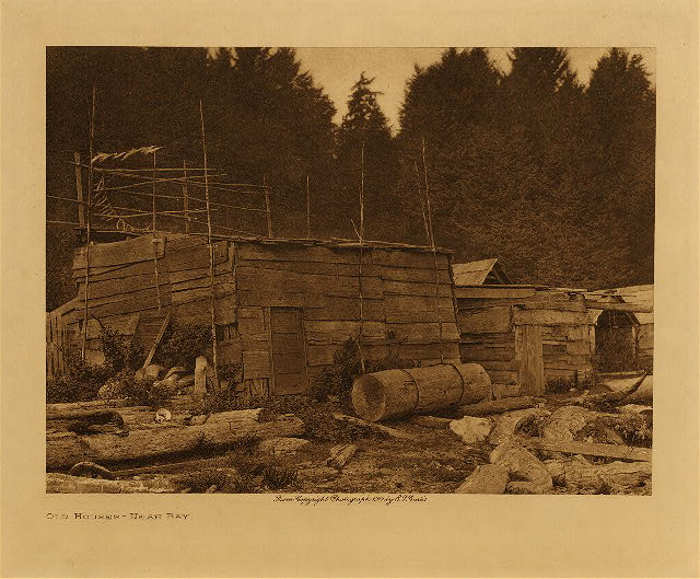 volume 11  facing: page  60 Old houses : Neah Bay